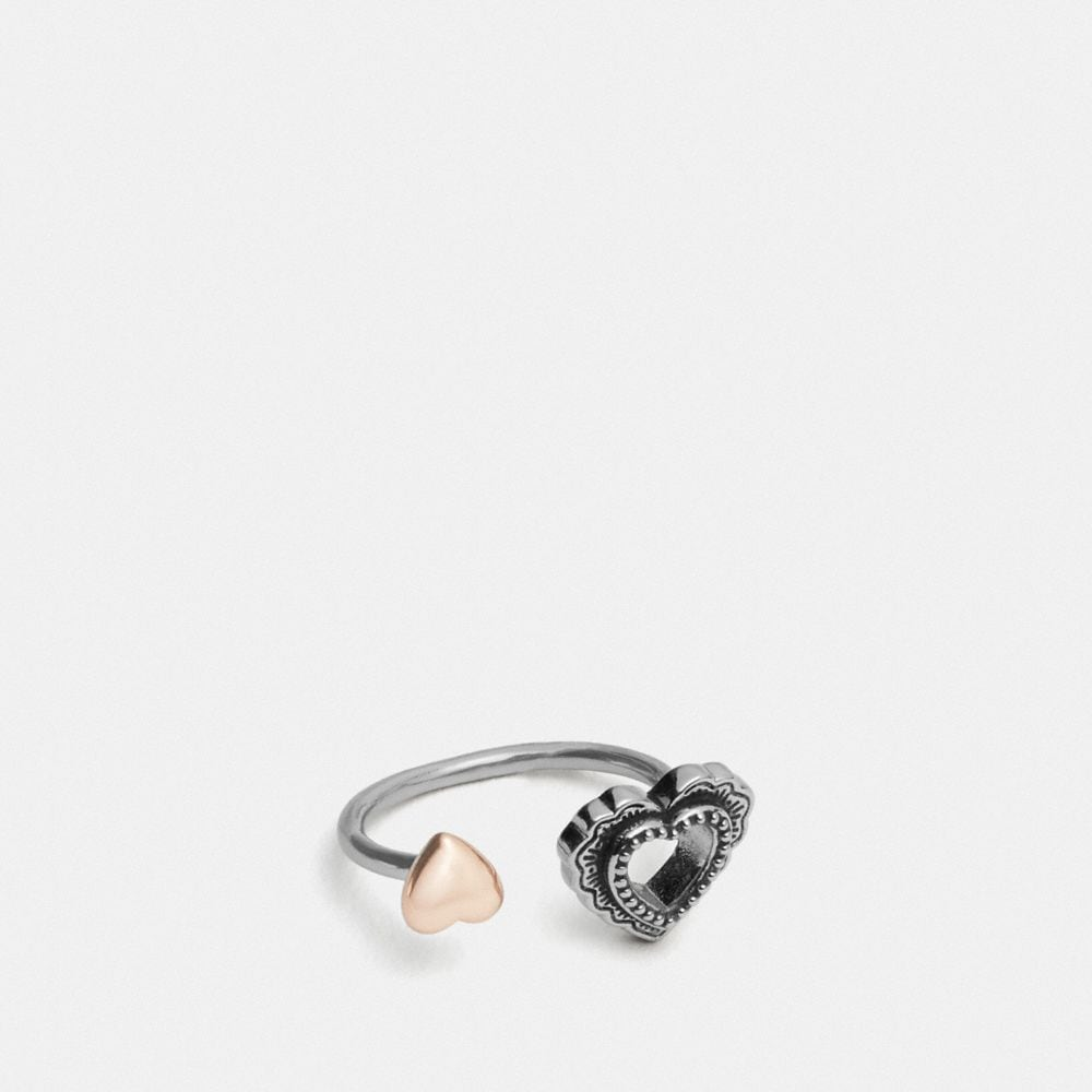SCALLOP HEART OPEN RING