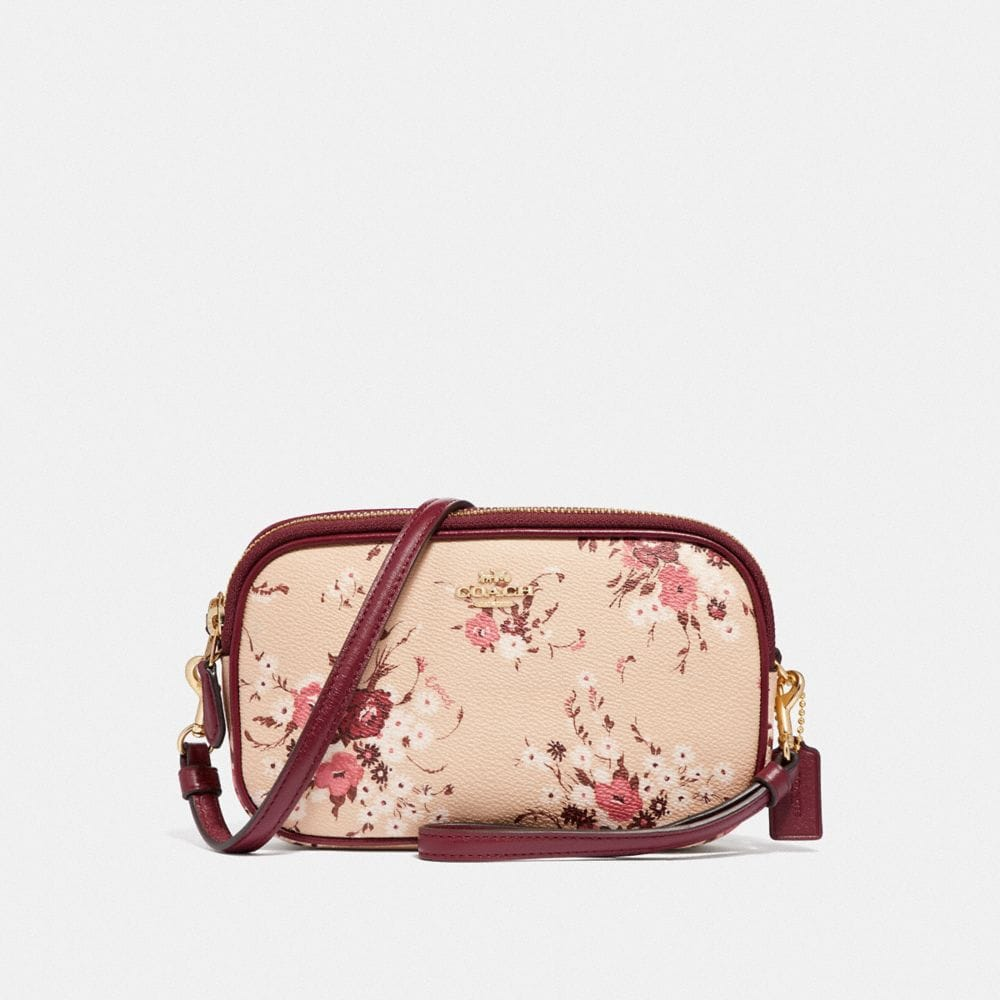 SADIE CROSSBODY CLUTCH WITH FLORAL BUNDLE PRINT