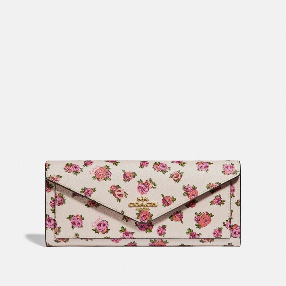 CARTERA SUAVE CON ESTAMPADO MINI VINTAGE ROSE