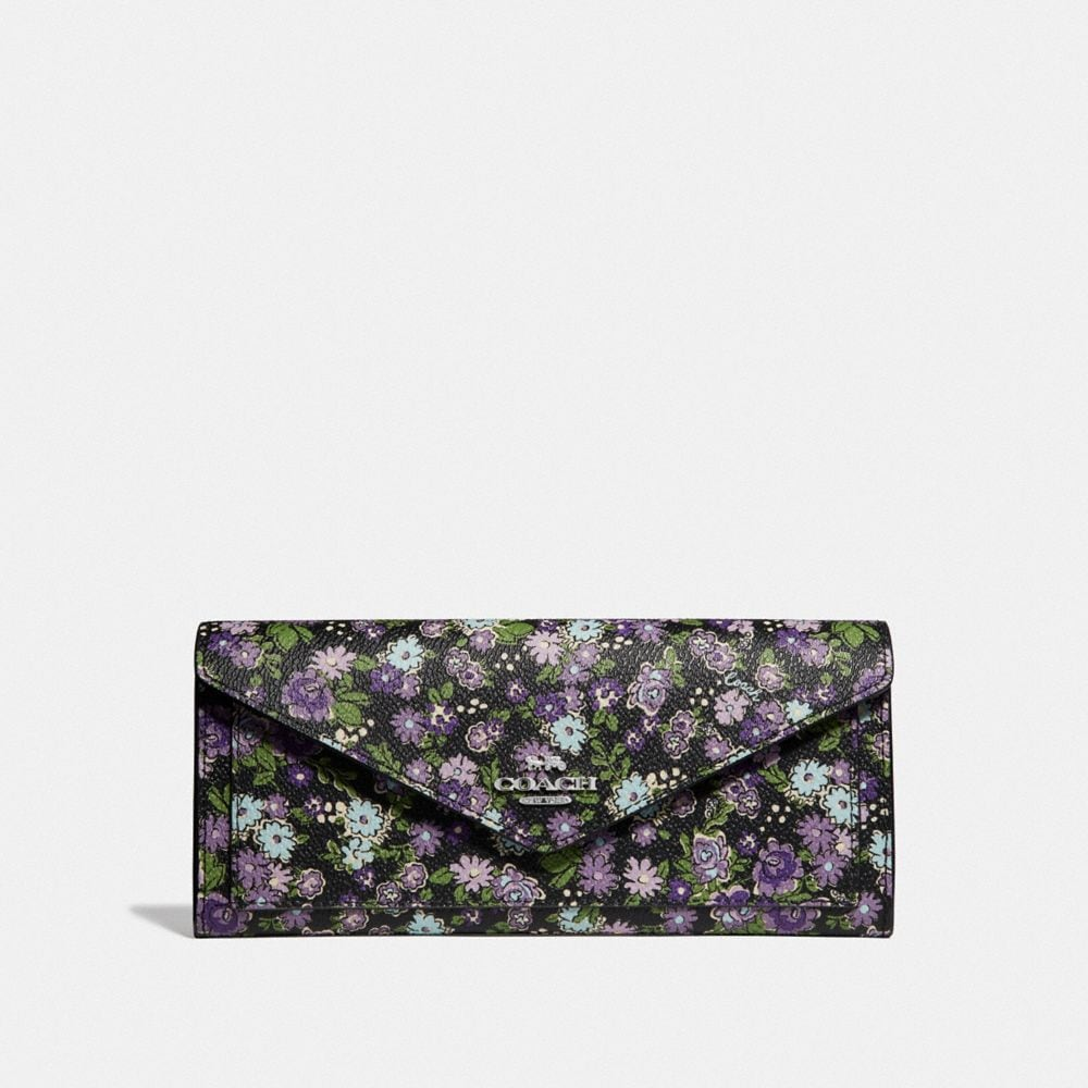 SOFT WALLET WITH POSEY PRINT