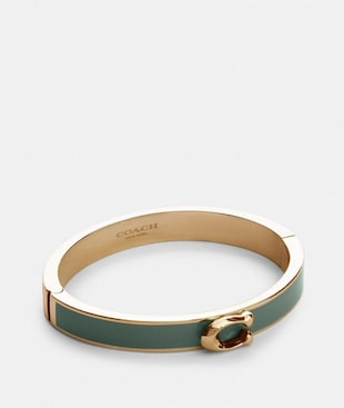 SIGNATURE PUSH HINGED BANGLE