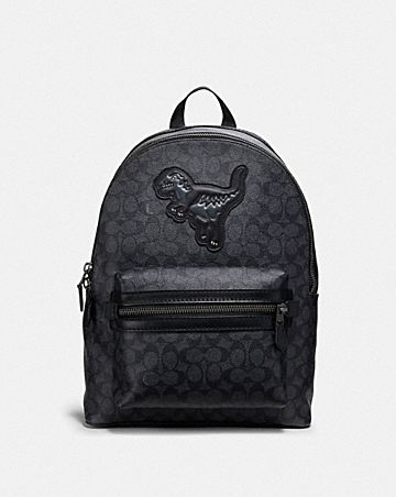 ACADEMY BACKPACK IN SIGNATURE CANVAS WITH REXY ... 7c08a09bcf