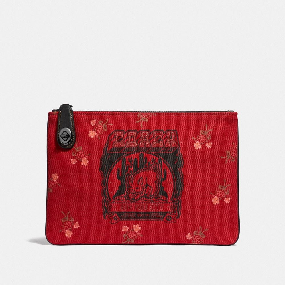 LUNAR NEW YEAR TURNLOCK POUCH 26 WITH PIG MOTIF