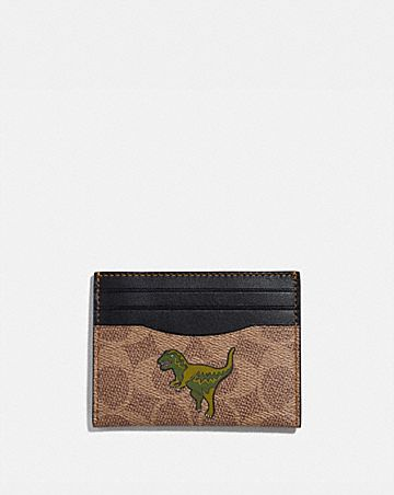 CARD CASE IN SIGNATURE CANVAS WITH REXY