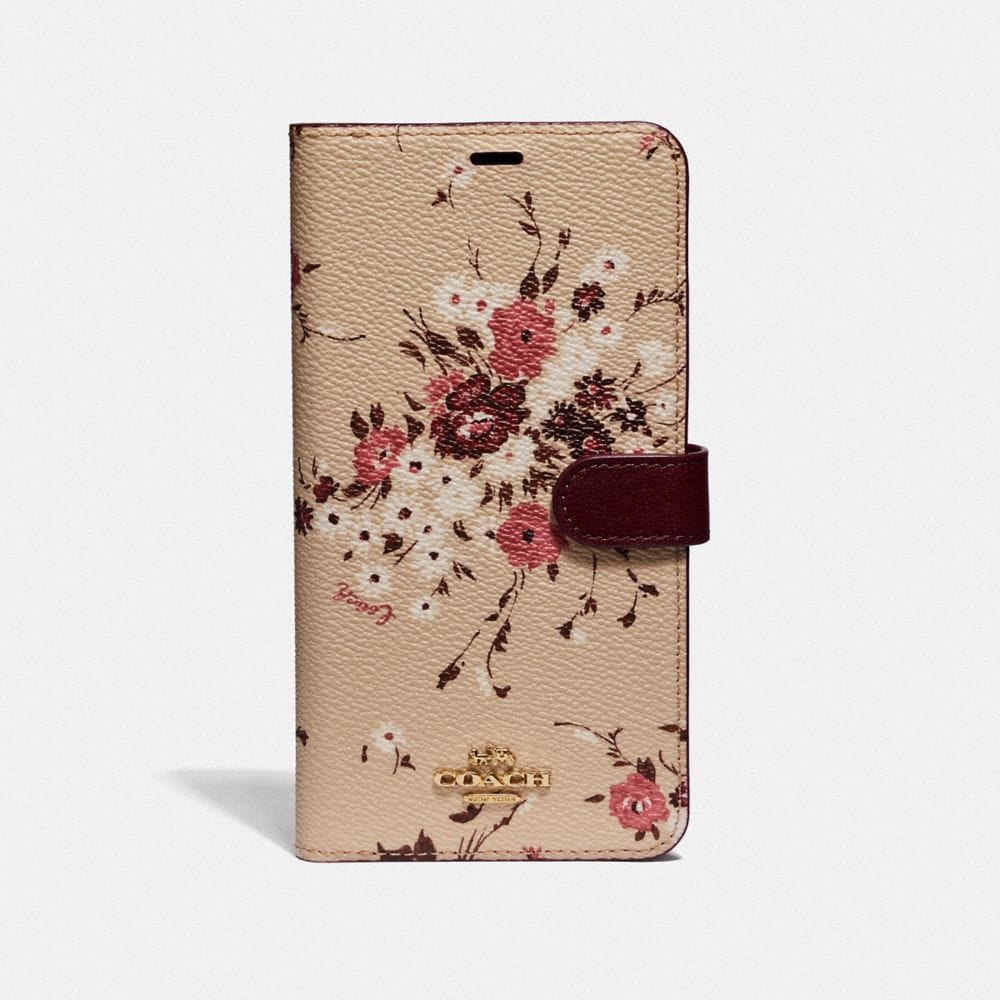 IPHONE XS MAX FOLIO WITH FLORAL BUNDLE PRINT