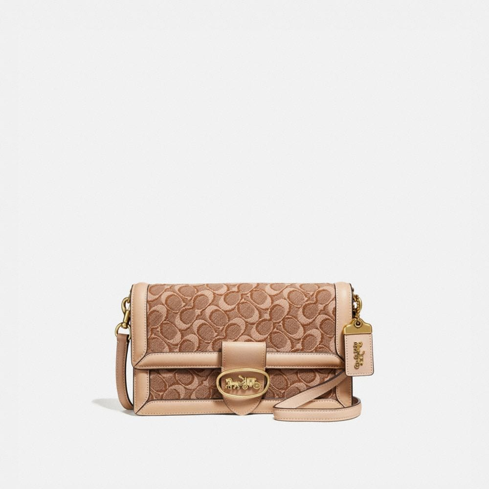 RILEY CROSSBODY IN SIGNATURE JACQUARD