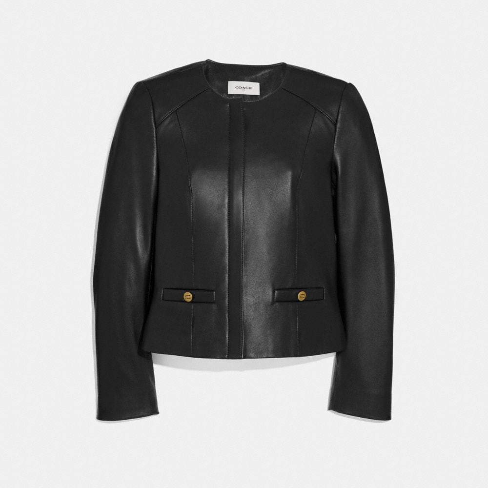 TAILORED LEATHER JACKET