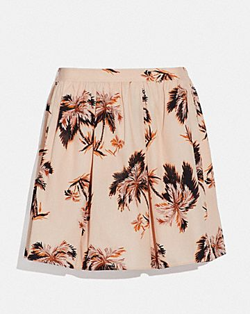 PALM TREE PRINT MINI SKIRT
