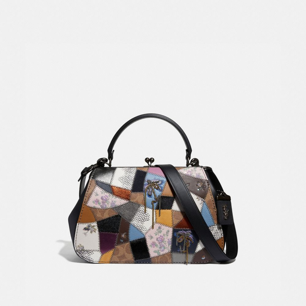 FRAME BAG WITH PATCHWORK