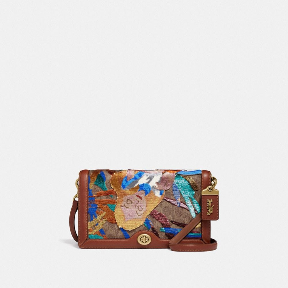 DISNEY X COACH SIGNATURE RILEY WITH EMBELLISHED ALICE