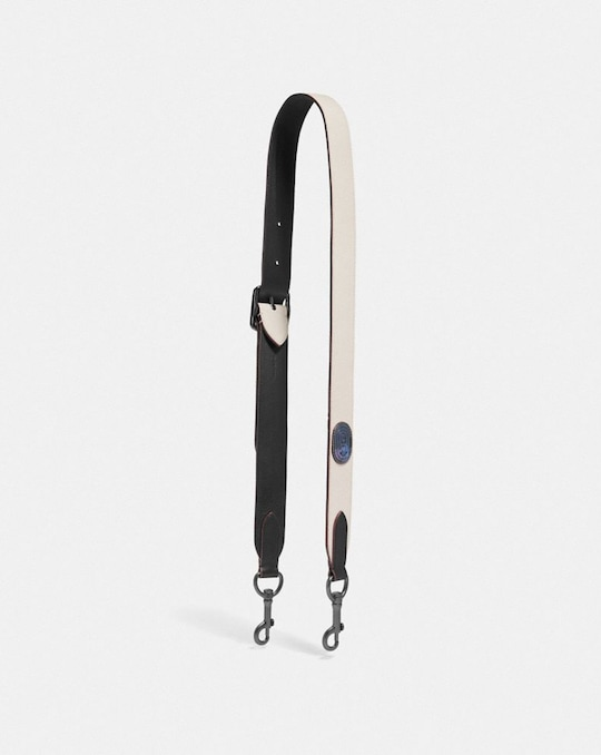 BAG STRAP WITH COACH PATCH