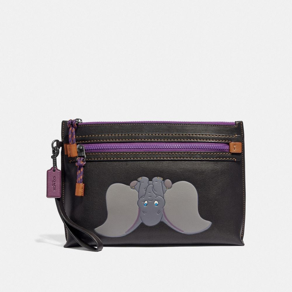 DISNEY X COACH ACADEMY POUCH WITH DUMBO