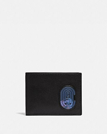 SLIM BILLFOLD WALLET WITH COACH PATCH