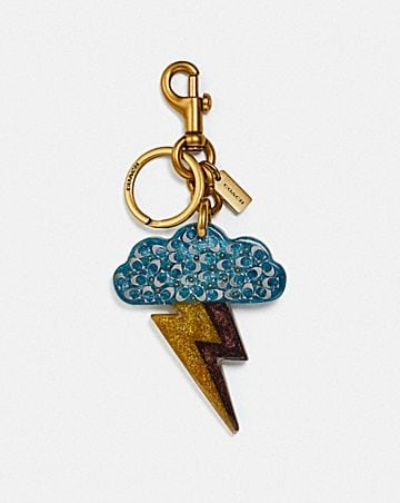 CLOUD AND BOLT BAG CHARM