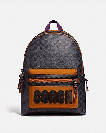 df987f49f6c ACADEMY BACKPACK IN SIGNATURE CANVAS WITH COACH PRINT ...