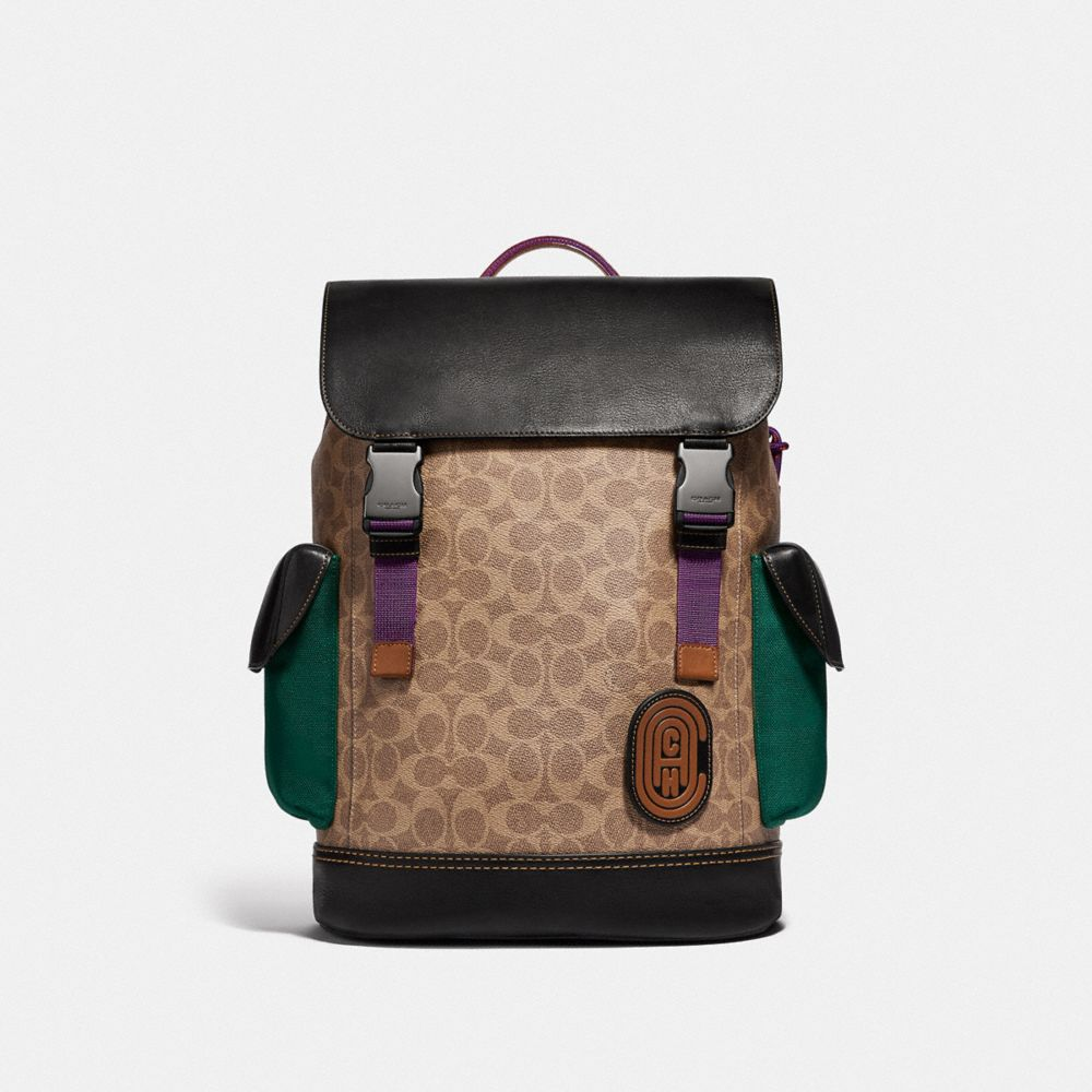 RIVINGTON BACKPACK IN SIGNATURE CANVAS WITH COACH PATCH