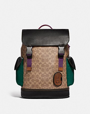 RIVINGTON BACKPACK IN SIGNATURE CANVAS WITH COACH PATCH ...