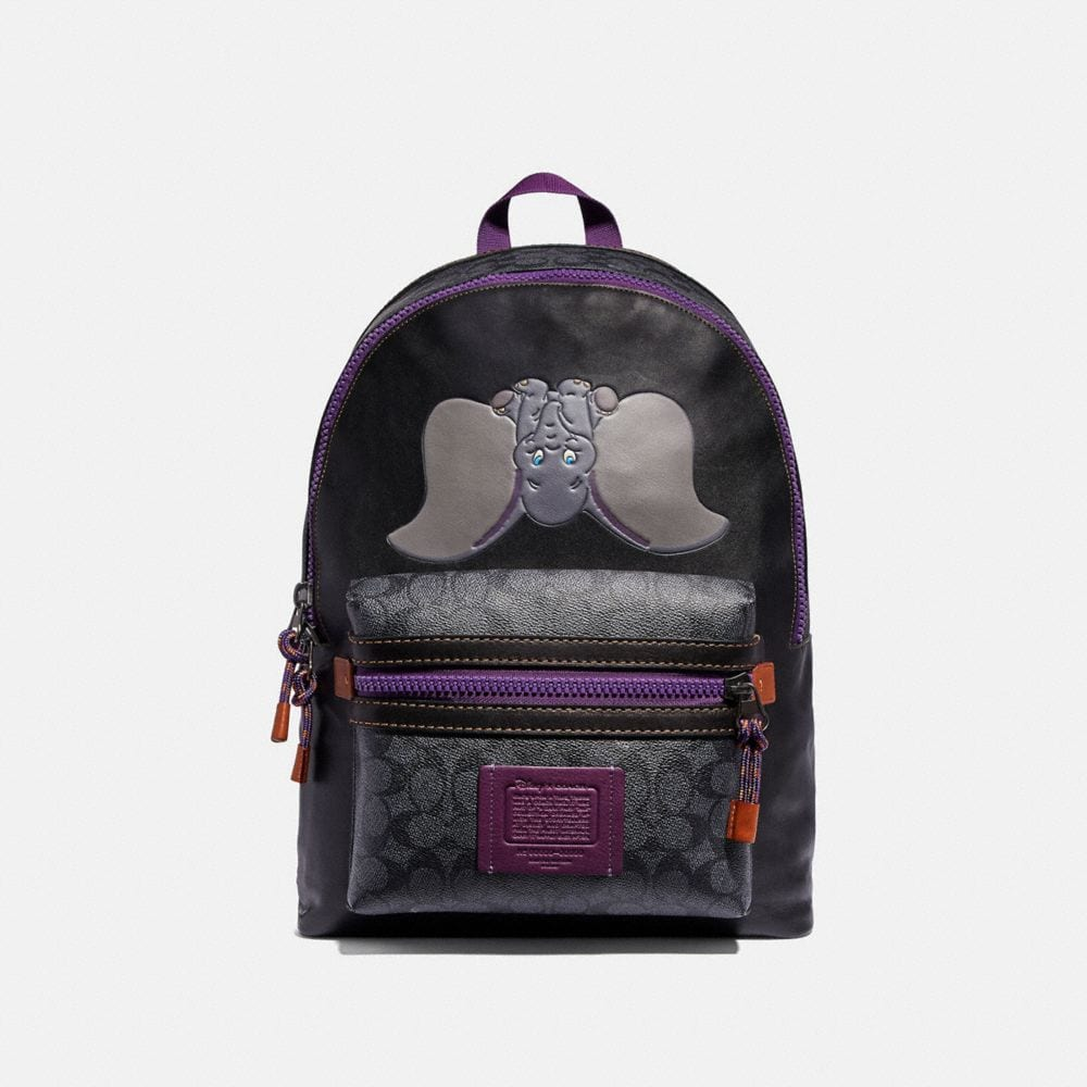 DISNEY X COACH SIGNATURE ACADEMY BACKPACK WITH DUMBO