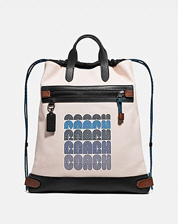 ACADEMY DRAWSTRING BACKPACK IN COLORBLOCK