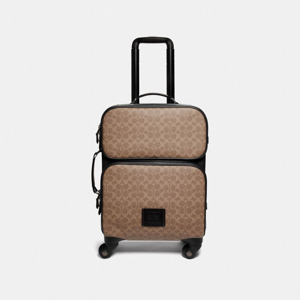 ACADEMY TRAVEL WHEELED CARRY ON IN SIGNATURE CANVAS