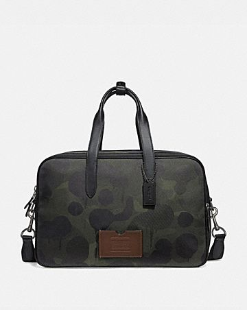 ACADEMY TRAVEL DUFFLE WITH WILD BEAST PRINT