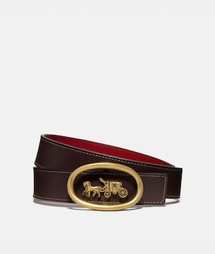 HORSE AND CARRIAGE BUCKLE BELT, 32MM