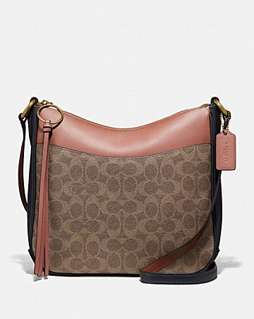 CHAISE CROSSBODY IN COLORBLOCK SIGNATURE CANVAS