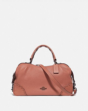 LANE SATCHEL WITH WHIPSTITCH