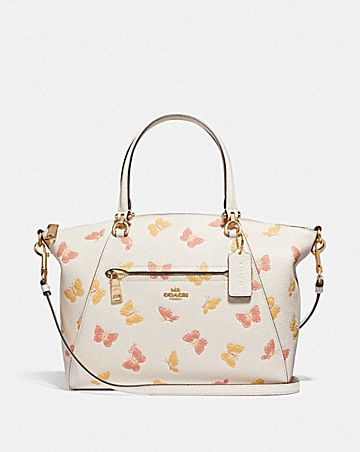 PRAIRIE SATCHEL WITH BUTTERFLY PRINT