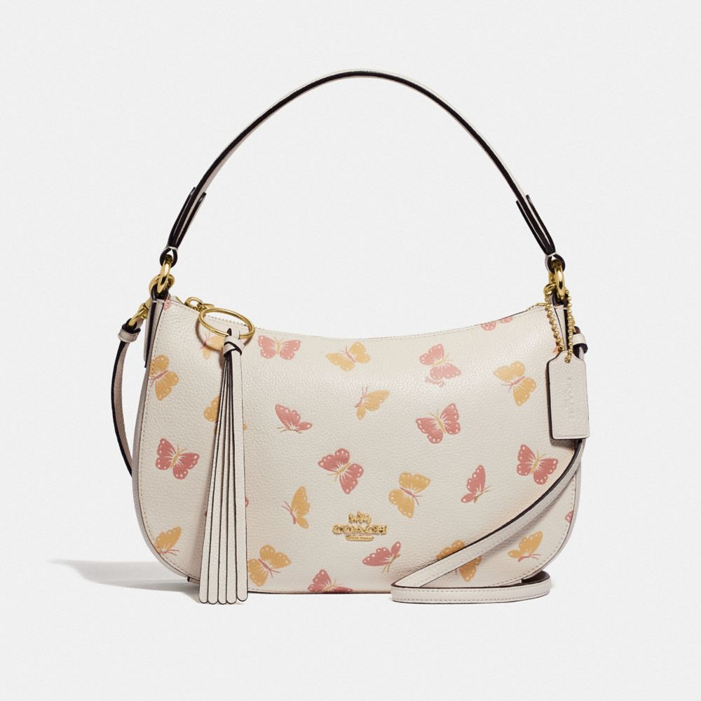 SUTTON CROSSBODY WITH BUTTERFLY PRINT