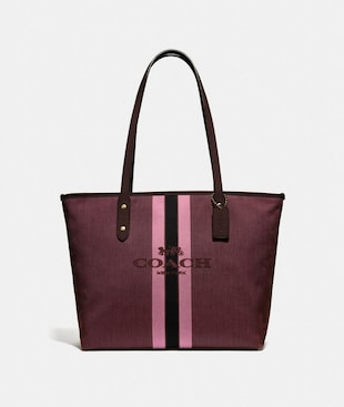 CITY ZIP TOTE WITH HORSE AND CARRIAGE