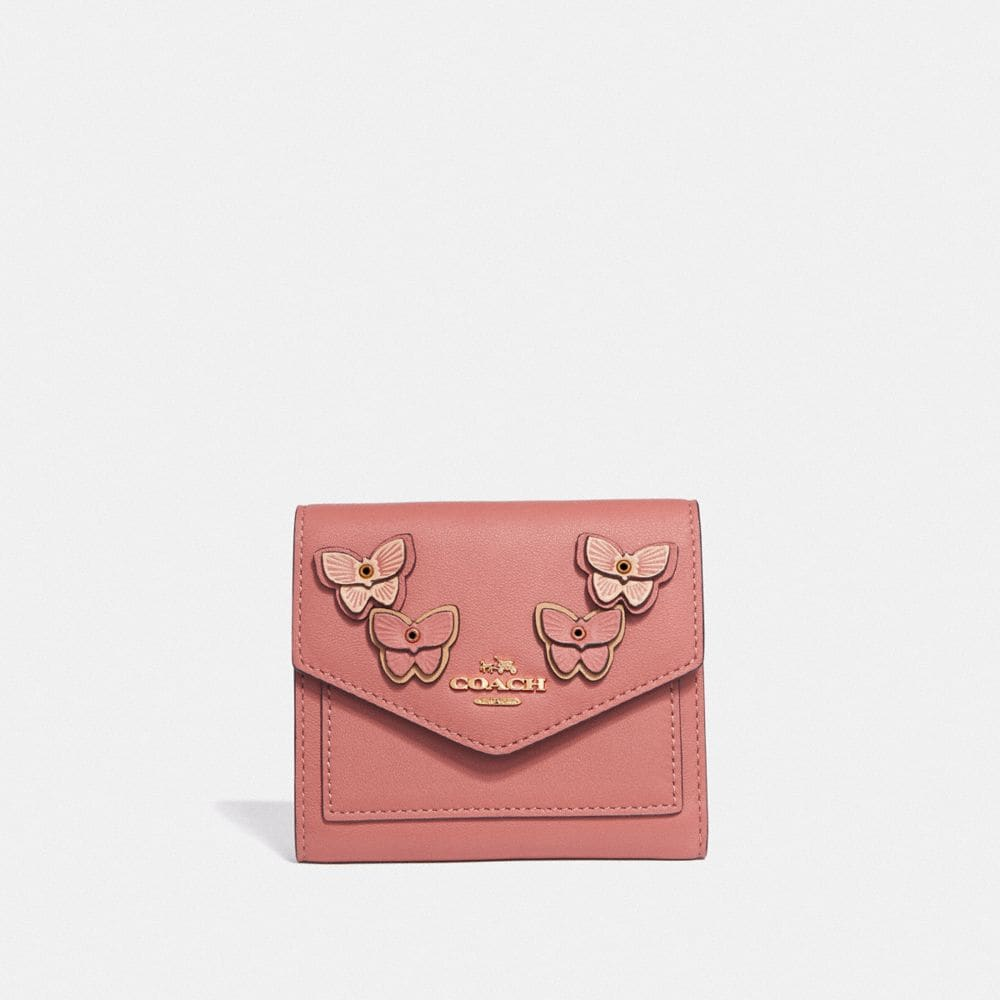 SMALL WALLET WITH BUTTERFLY APPLIQUE