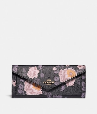 SOFT WALLET WITH GARDEN ROSE PRINT