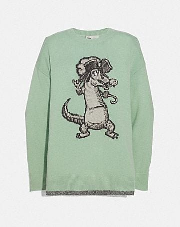 DISNEY X COACH CROCODILE OVERSIZED INTARSIA SWEATER