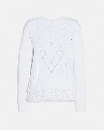 SCALLOP BRODERIE ANGLAISE SWEATER