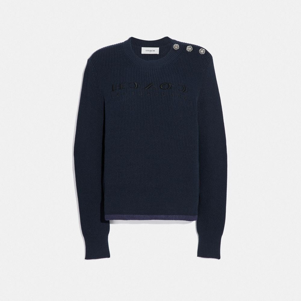 REVERSE COACH SWEATER