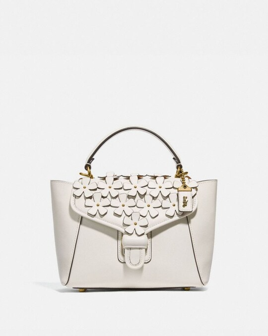COURIER CARRYALL 23 WITH FLORAL APPLIQUE