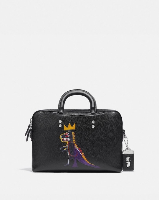 COACH X JEAN-MICHEL BASQUIAT ROGUE SLIM BRIEF 25
