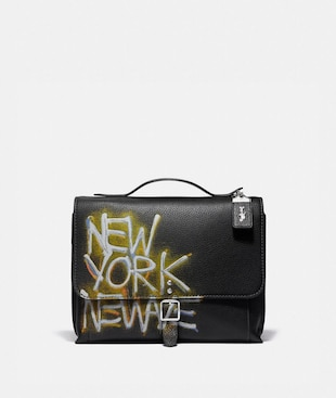 SAC MESSENGER ROGUE COACH X JEAN-MICHEL BASQUIAT