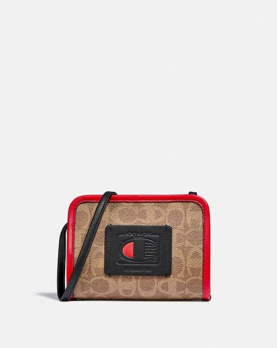 COACH X CHAMPION RECTANGLE POUCH IN SIGNATURE CANVAS