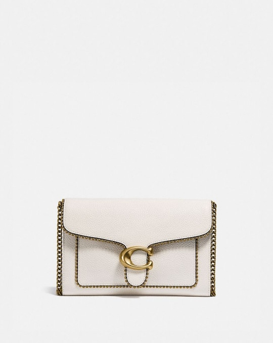 TABBY CHAIN CLUTCH WITH BEADCHAIN