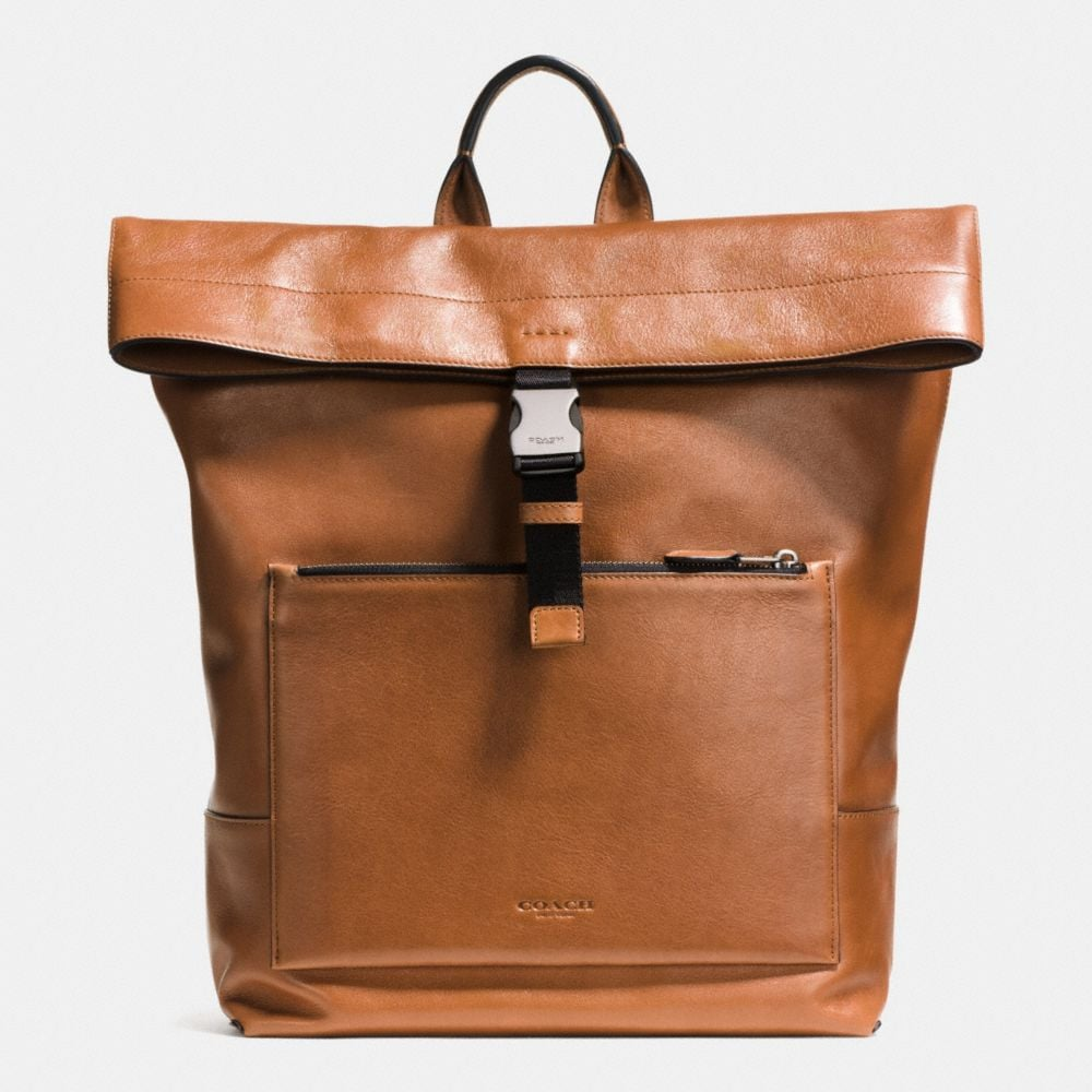 MANHATTAN FOLDOVER BACKPACK IN SPORT CALF LEATHER