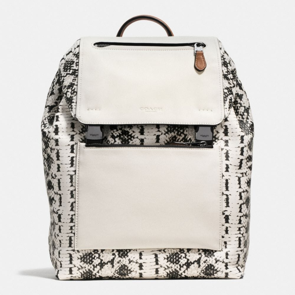 MANHATTAN BACKPACK IN PRINTED SPORT CALF LEATHER