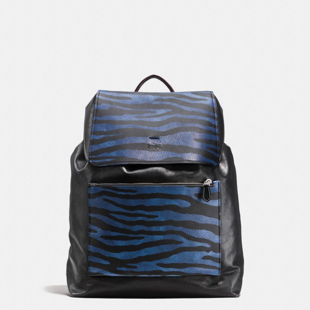 LARGE BACKPACK IN PRINTED PEBBLE LEATHER
