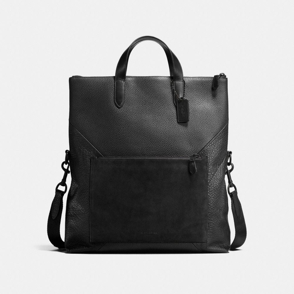 MANHATTAN FOLDOVER TOTE IN PATCHWORK LEATHER