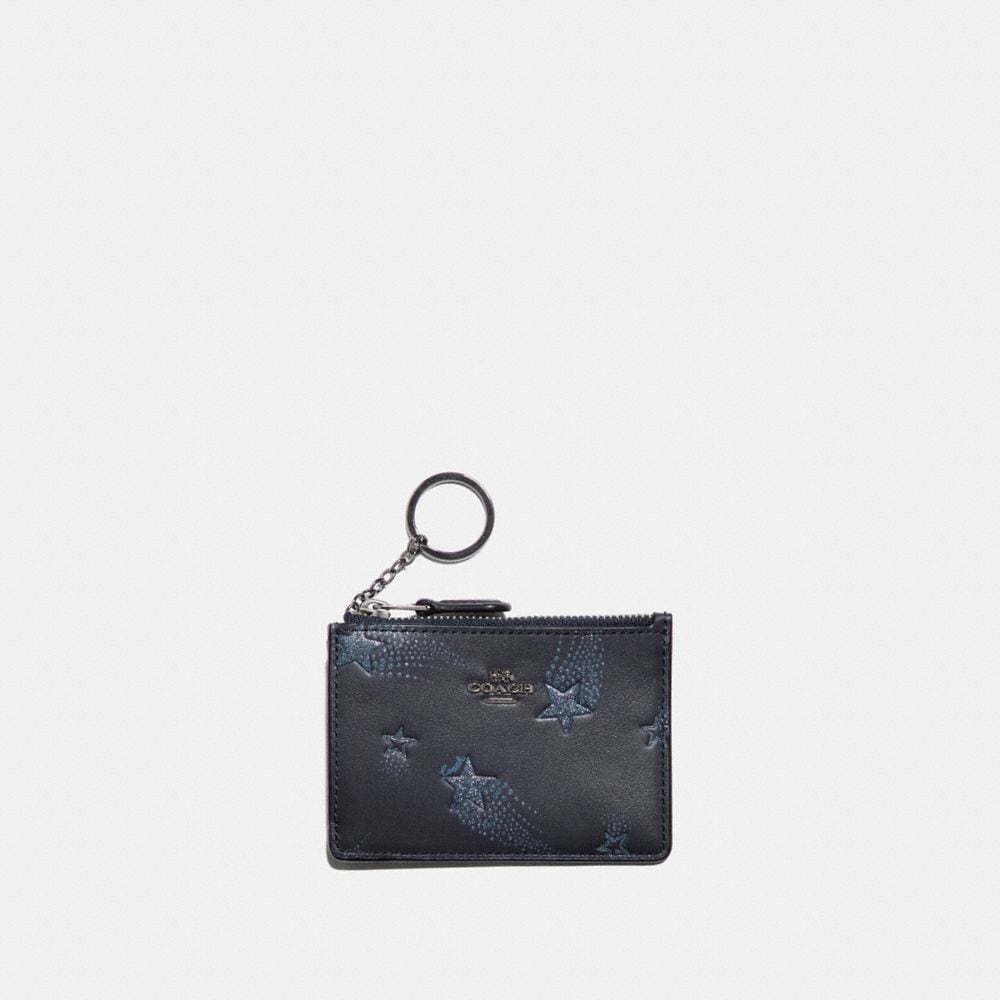 MINI ID SKINNY ID CASE WITH STAR PRINT