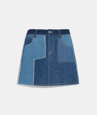 DENIM PATCHWORK SKIRT