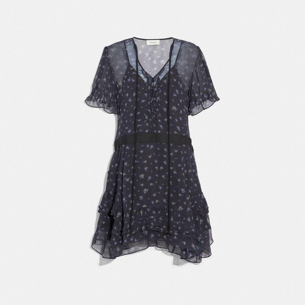 SCATTERED ROSE PRINT SHORT DRESS