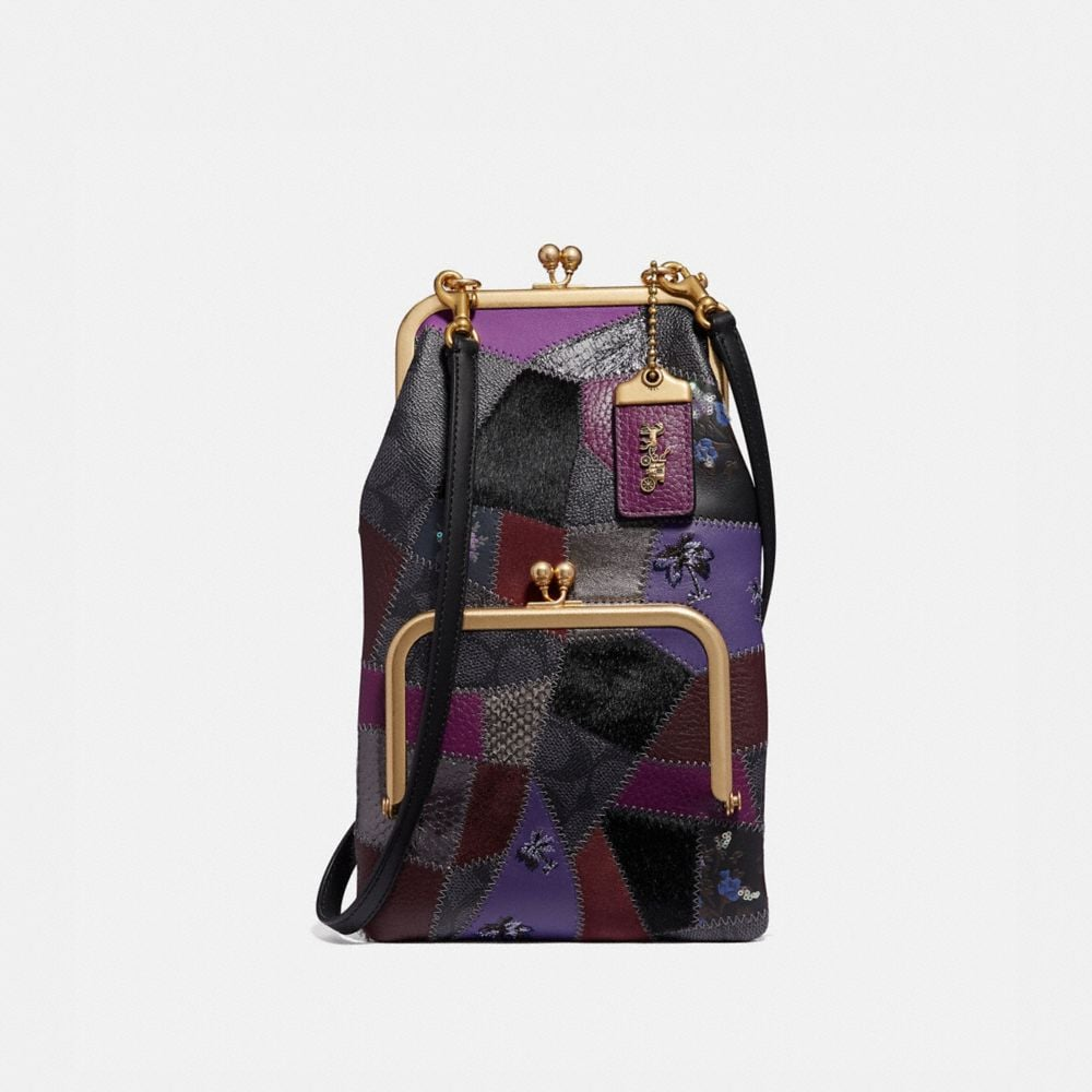 DOUBLE FRAME CROSSBODY WITH SIGNATURE PATCHWORK