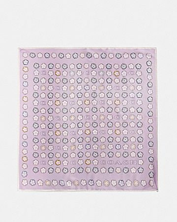TEA ROSE SILK SQUARE SCARF